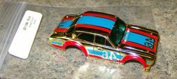 """NEW """"OS"""" AURORA AFX ESCORT CHROME GOLD, BLUE/RED HO SLOT CAR"""