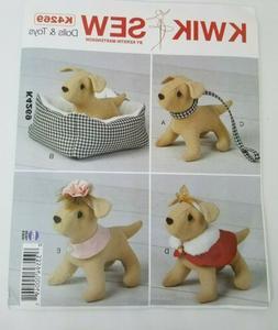 NEW Kwik Sew Pattern K4269 Dolls & Toys Dog & Accessories Un