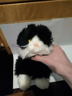 "NEW RARE 12"" AURORA FLOPSIES TUX BLACK AND WHITE CAT PLUSH S"