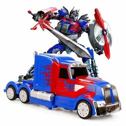 NEW Transformers Optimus Prime Truck Light Up Bump & Go Car