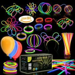 Pack Of 108 LED Light Up Toys Glow In The Dark Birthday Chri