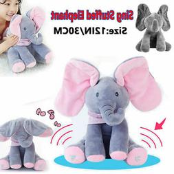 Peek-a-Boo Animated Talking and Singing Plush Elephant Stuff