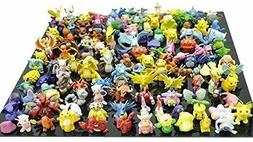 Pikachu Pokemon Action Figures Toy Lot 144 Pcs Go Mini 2 3 C