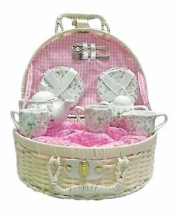 Delton Products Pink Chintz Children's Tea Set for Two Dishe