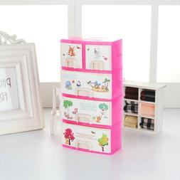 Pink Closet Wardrobe For Girl Doll House Girls Toy Princess