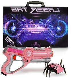 DYNASTY TOYS Girls Toys Pink Laser Tag Blaster and Flipping