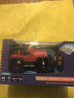 Play Right Mini Remote Control Toy Vehicle Red Jeep Ages 6+K