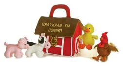 "Plush Baby 6"" My Barnyard Friends Carrier with Sound"