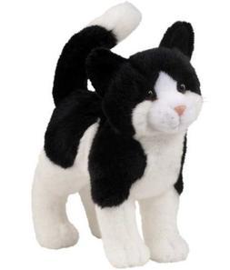 Plush Stuffed Animal: Black and White Cat