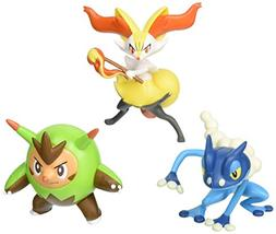 "Pokemon Action Pose Quilladin, Braixen & Frogadier 3"" Action"