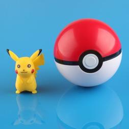 Pokemon Pokeball Pop-up 7cm Plastic BALL Toy Action Figure +