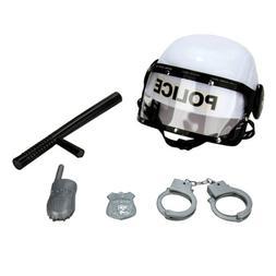 Police Pretend Role Play Dress Up Kit Kids Toy Gift Helmet B