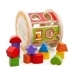 iPuzzle Preschool Wood Shape Sorter – Roll Wooden Shape So
