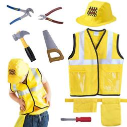 Pretend Play Engineering Dress Up Construction Worker Costum