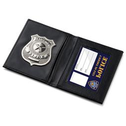 Pretend Play Police ID Wallet 2 Pockets with attached metal
