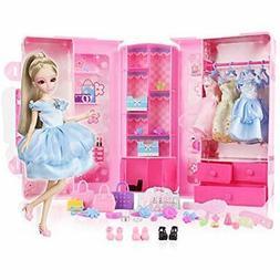Pretend Play Princess Doll Dress Up Set With Fashionistas Ul