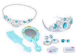 JaxoJoy Princess Beauty Set – Play Pretend Dress Up Jewelr