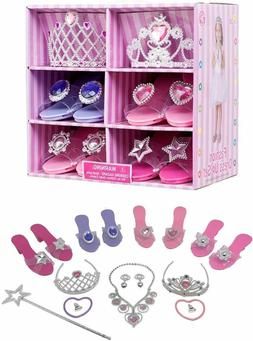 Princess Dress Up Shoes, Pretend Jewelry Play Gift Set Toys