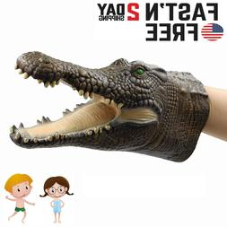 Shark Hand Puppet Soft Kids Toy Gift Great Cake Decoration T
