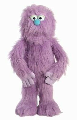 "30"" Purple Monster Puppet, Full Body Ventriloquist Style Pup"