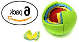 6 Pack Puzzle Ball 3D Spherical Puzzle 21 Pcs Toy Great Part