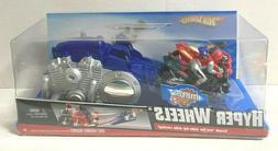 HOT WHEELS Race Hyper Wheels Blue and Silver Launch Racers w