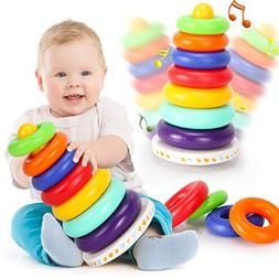 Kingseye Rainbow Stacking Tower with Music Tumbler, Sounds a