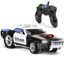 RC Police Car Toy Kids Remote Control Vehicle Play Wheels Re
