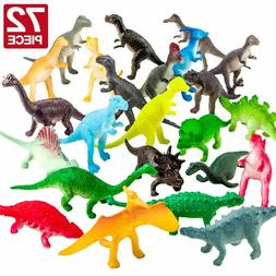 Realistic Dinosaur Toys Assorted Lot Pack of 72 Jurassic Par