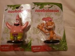 Ren Hoek & Patrick Star Figurines  Lot of 2 New Nickelodeon