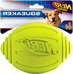 Nerf Ridged Squeak Football - Green - 6 in.