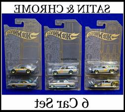 Hot Wheels Satin & Chrome Set Of 6 '71 Datsun 510 & El Cam