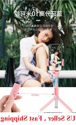 Selfie Stick Tripod Remote Shutter Extendable Monopod For iP