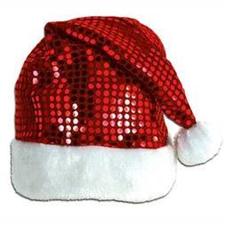 sequin sheen santa hat party accessory