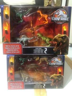 Set of 2 Mattel Jurassic World Legacy Collection Mini Action
