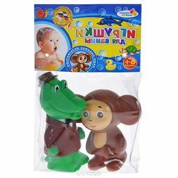 Set of 2 toys for bath Cheburashka and Crocodile Gena - new
