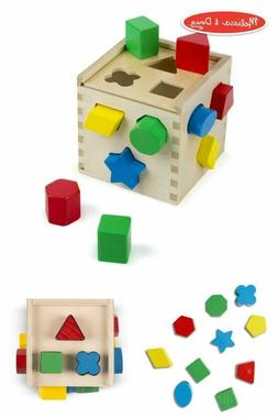 Shape Sorting Cube Classic Wooden Toy Developmental Toy Easy