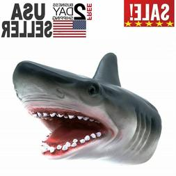 Shark Hand Puppet Soft Kids Toy Gift Great ForJaws Cake Deco