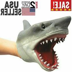 Shark Hand Puppet Soft Kids Toy Gift Great For Jaws Cake Dec