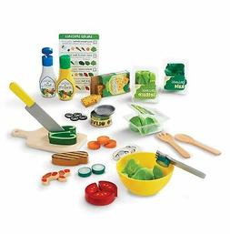 Melissa & Doug Slice & Toss Salad Play Food Set with 52 Wood