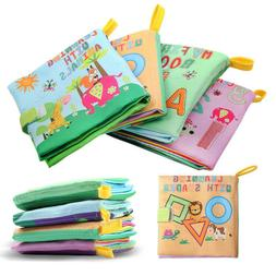Soft Baby Cloth Book Early Educational Newborn Crib Toys for