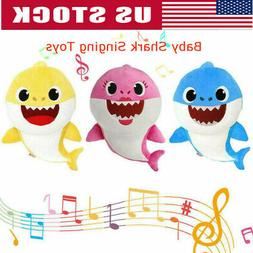 Soft Doll Baby Kid Shark With Music Cute Animal Stuffed Plus