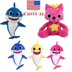Soft Dolls Shark toy with Music Sound Cute Animal Plush Sing