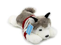 Vintoys Soft Plush Toy Lying Siberian Husky Plush Puppy Stuf