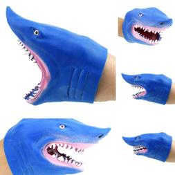 Soft vinyl TPR PVC shark hand puppet animal head hand puppet