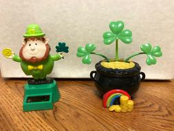 Solar Powered Dancing Toys Set of 2 St. Patricks Day - Lepre