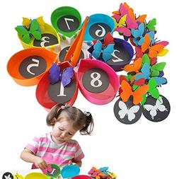 Skoolzy Color Sorting Preschool Learning Toys - Butterfly Co