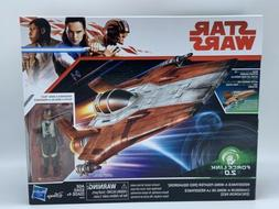 STAR WARS FORCE LINK 2.0 RED SQUADRON A-WING & PILOT Toy Col