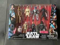 Star Wars Saga 7-Pack Action Figures Rey, Darth Vader Chewba