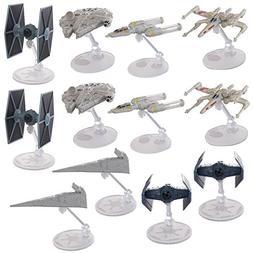 Hot Wheels  Star Wars Starships Millennium Falcon X Wing Y W